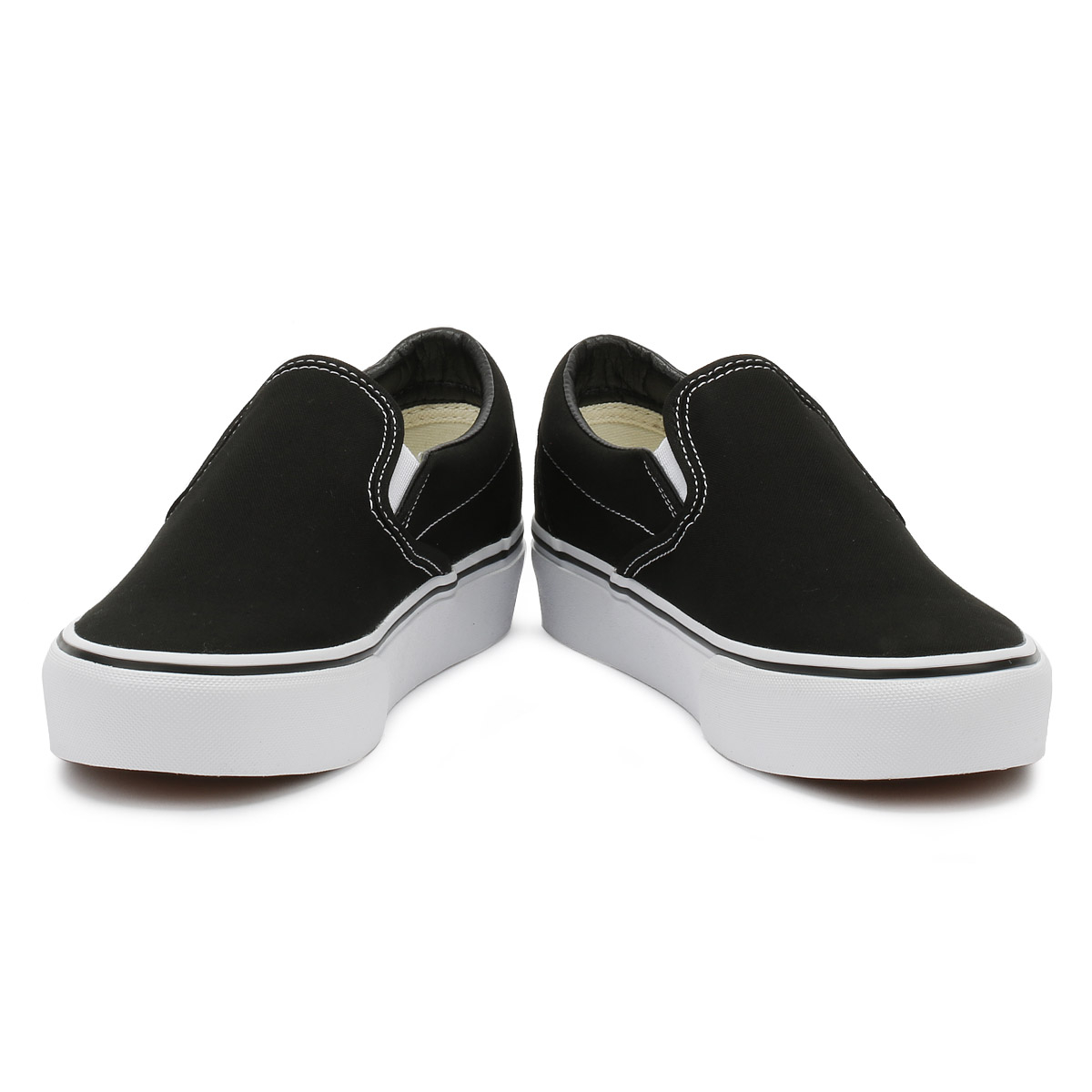 19cf2a28f0e Vans Womens Trainers Black Classic Slip On Platform Ladies Sport Casual  Shoes