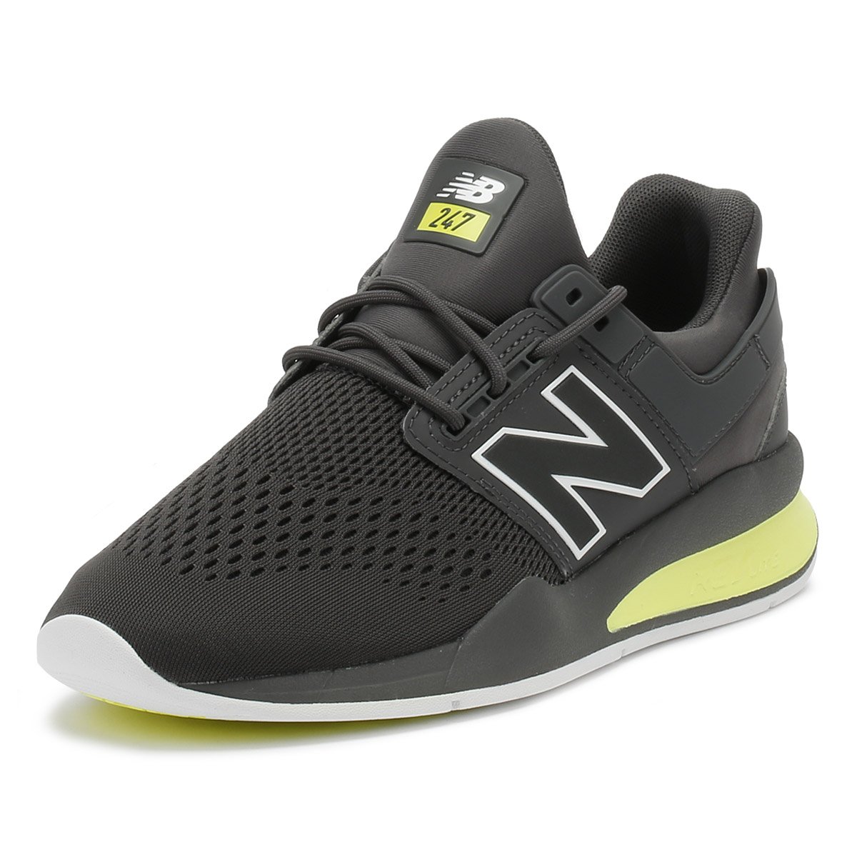 quality design 5e794 693e6 Details about New Balance Mens Trainers Magnet Grey  Solar Yellow 247 Lace  Up Running Shoes