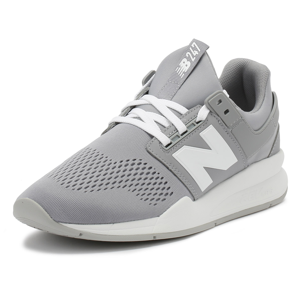 cbe35c6beaebd New Balance Womens Trainers Arctic Sky Grey & White 247 Sport Casual Shoes