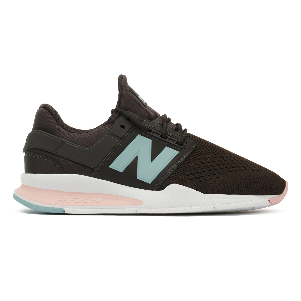 New Balance Womens Trainers Bmericano Grey & Himalayan Pink 247 Sport Shoes