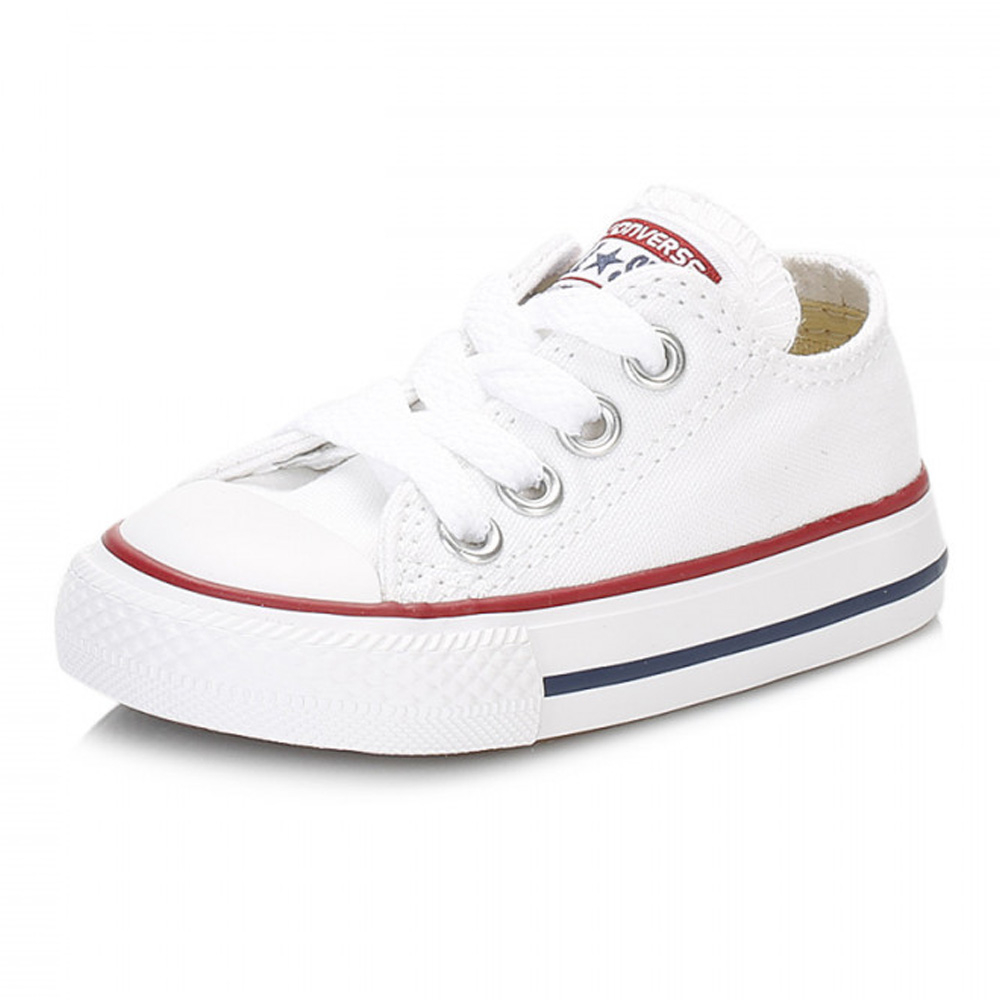 3a49460d299244 Details about Converse Toddler White All Star Ox Trainers Kids Canvas Shoes