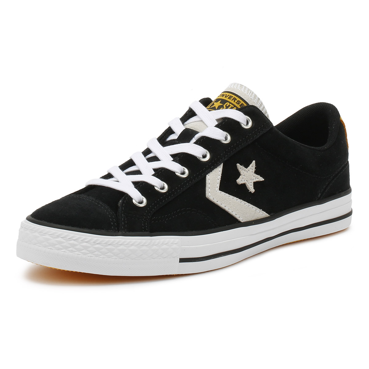 dea2b77f3eb Details about Converse Mens Trainers Black   White Star Player Suede Ox  Sport Casual Shoes