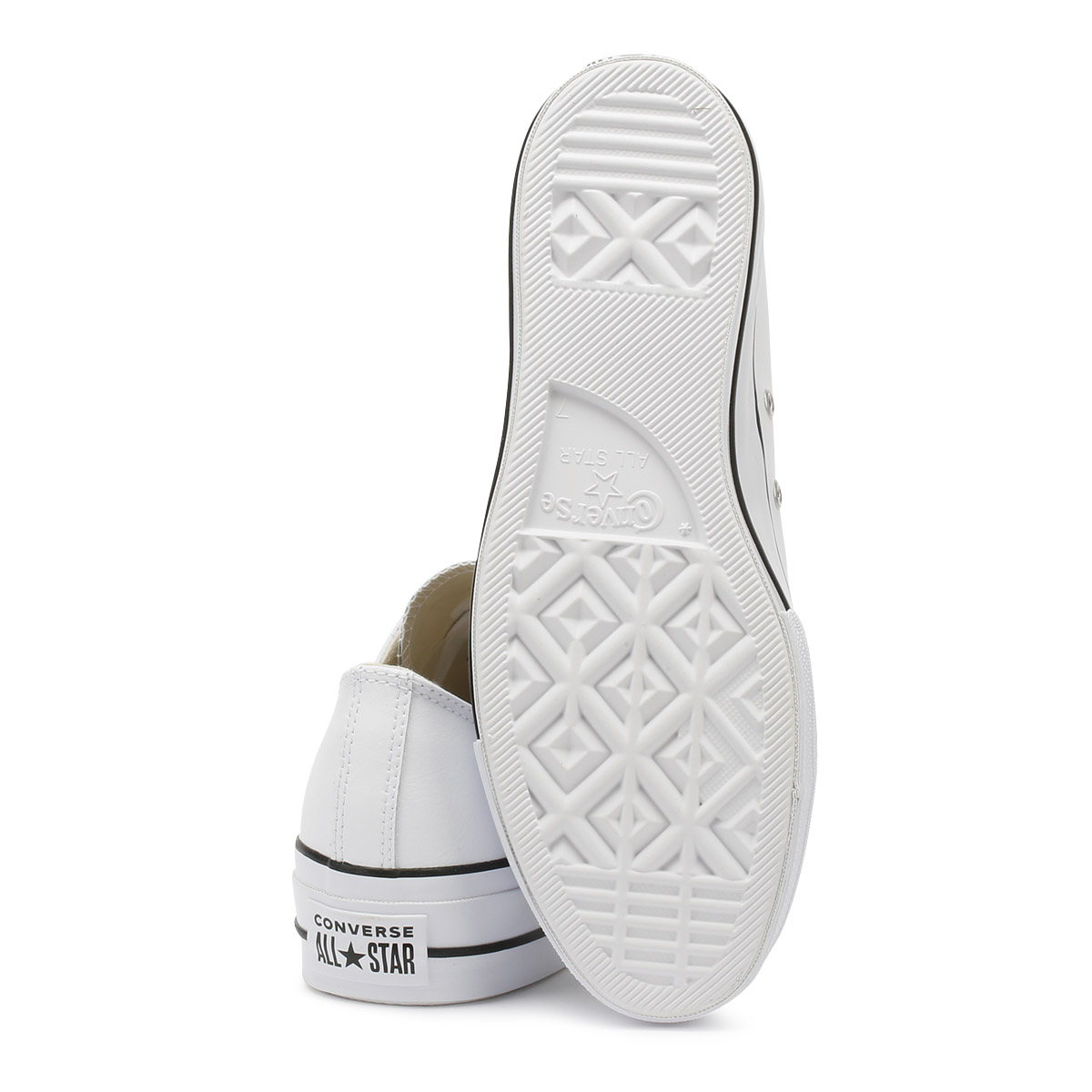 Converse Chuck Taylor All Star Womens Ox Trainers White Clean Lift Clean White Casual Shoes a0bb16