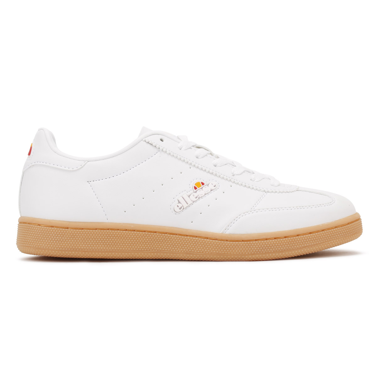 Ellesse Womens White Napoli Trainers, Leather Upper & Gum ...