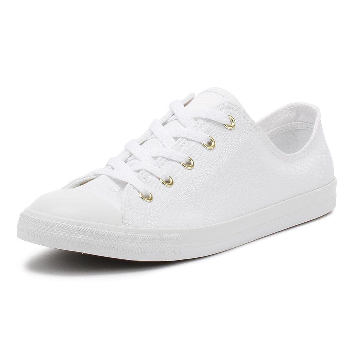 eac44d87b3f6 Details about Converse Chuck Taylor All Star Womens Ox Trainers White  Dainty Ox Casual Shoes