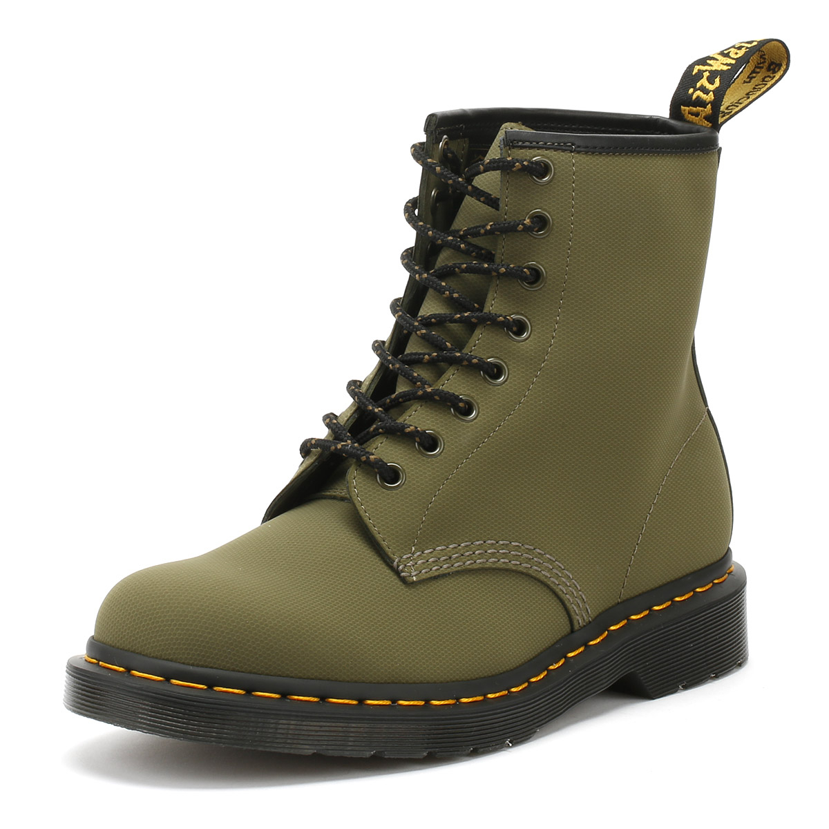800303a07b Details about Dr. Martens Mens Ankle Boots DMs Olive Taupe Green Broder  1460 Lace Up Shoes