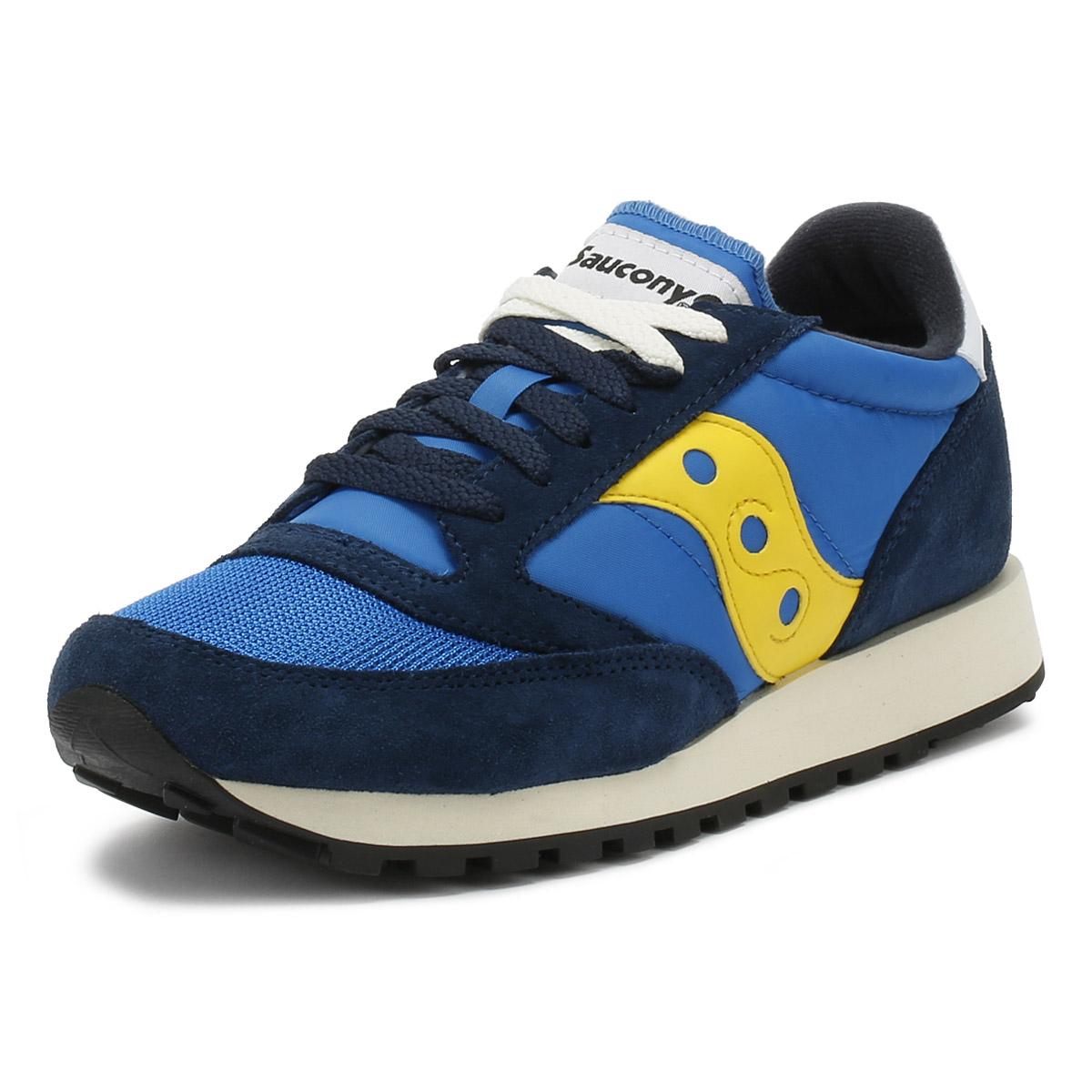 33576237 Details about Saucony Mens Trainers Blue & Yellow Jazz Original Vintage  Sport Casual Shoes