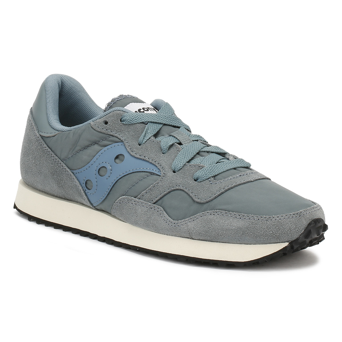 d42567035d23 Details about Saucony Womens Grey Classic Trainers Lace Up Suede Vintage  Sports Casual Shoes