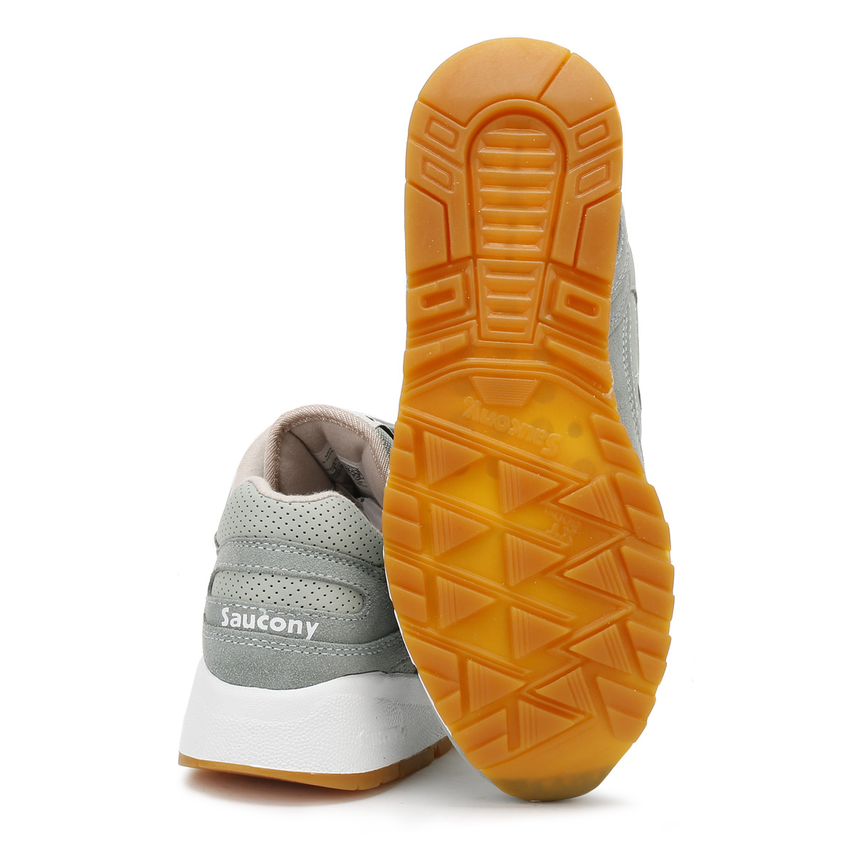 Saucony Grau  Uomo 6000 HT Grau Saucony Classic Trainers Lace Up Suede Sports Casual Schuhes 03259d