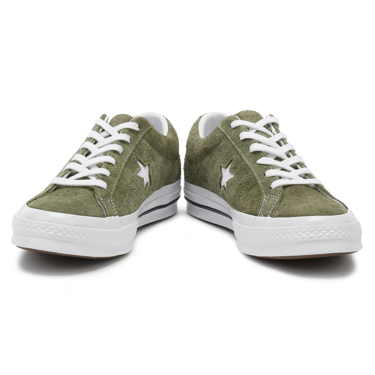 24666146eeb Converse One Star Mens Trainers Field Surplus Green Suede Ox Sport Casual  Shoes