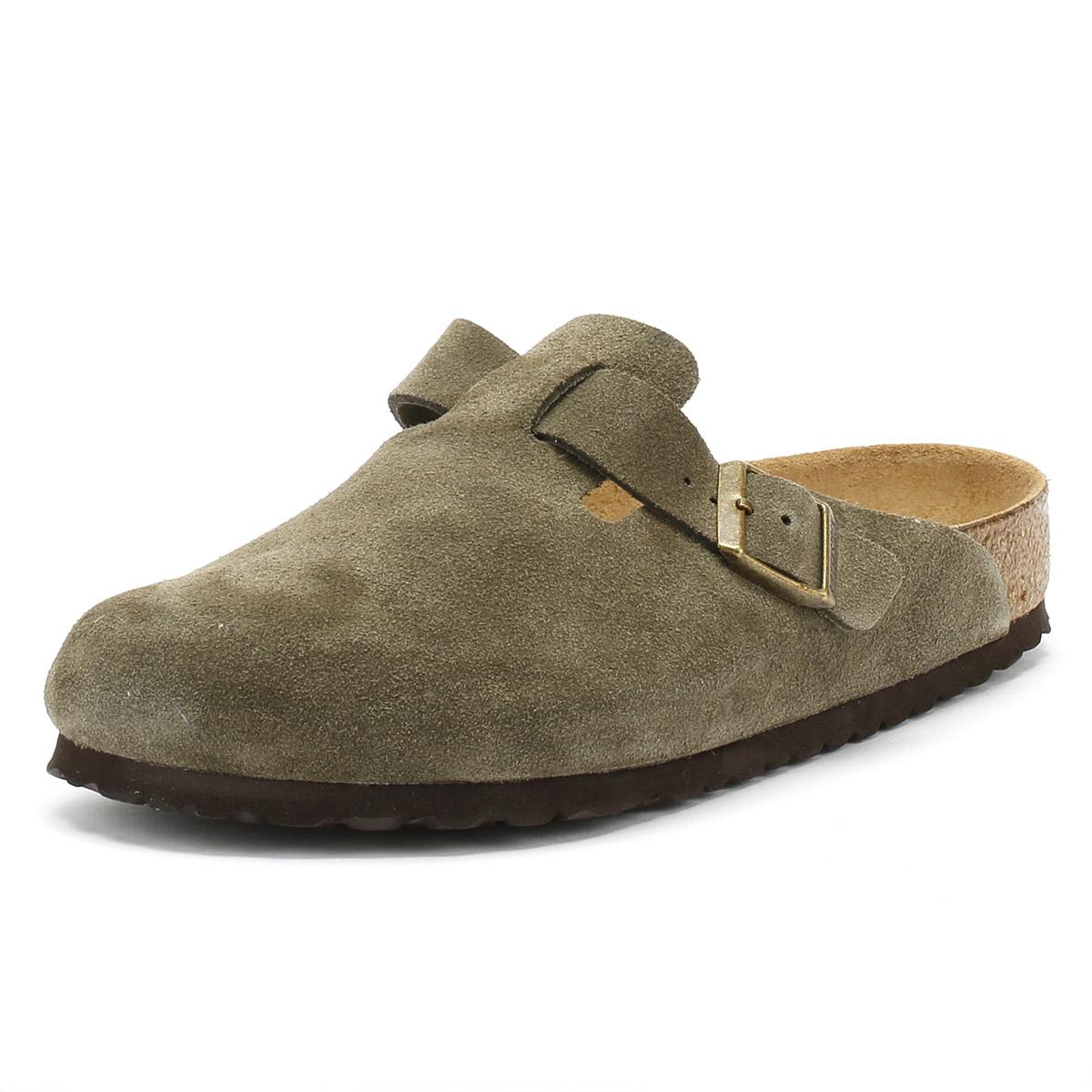 ee1fc90ea8 Details about Birkenstock Green Forest Boston Suede Clogs Unisex Sandals  Summer Shoes