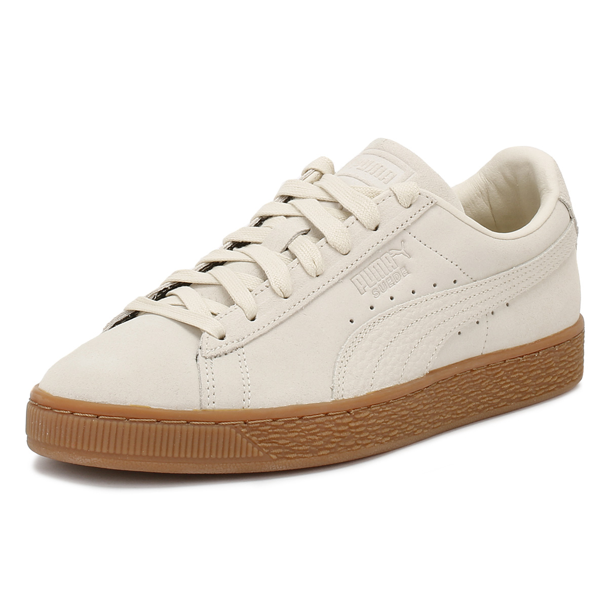 Details about Puma Mens Trainers Birch Beige Suede Classic Lace Up Sports  Casual Shoes 1a8e2ae7a