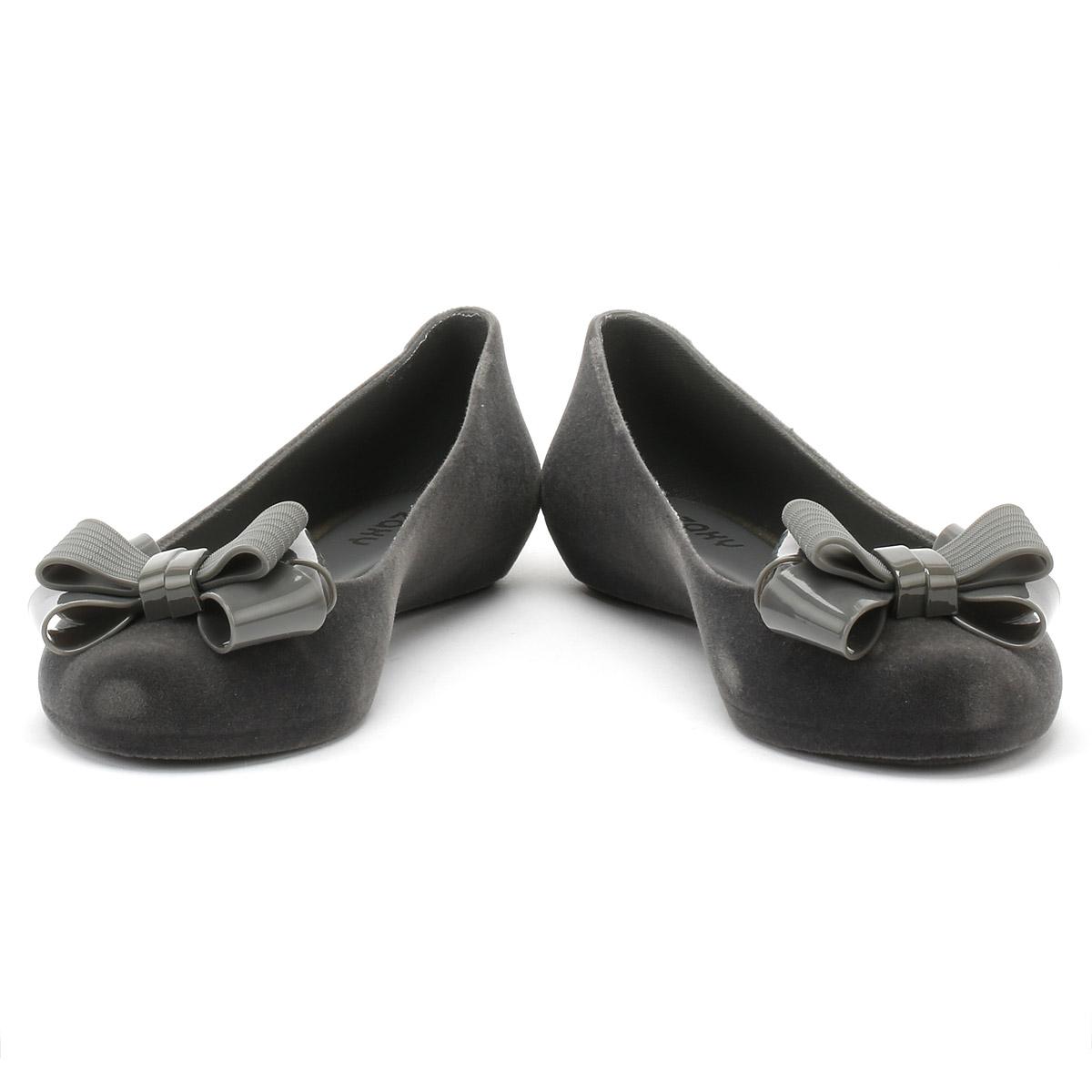 Zaxy Women Pop Flock 2 Grey Flats Shoes Ballerinas New In