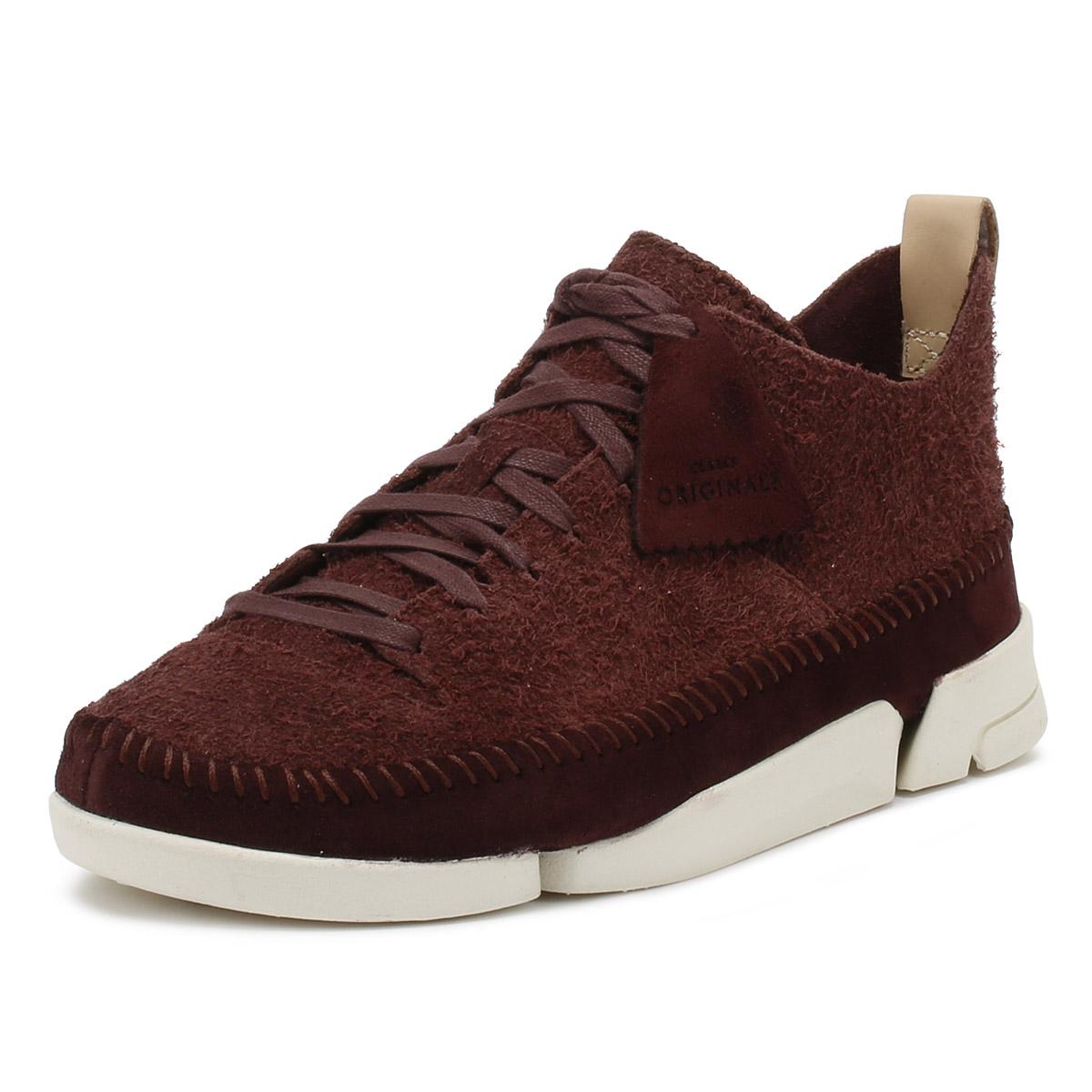 Detalles de Clarks Para hombre Zapatillas Borgoña Trigenic Flex Con Cordones Deportivos Informales Zapatos de gamuza ver título original