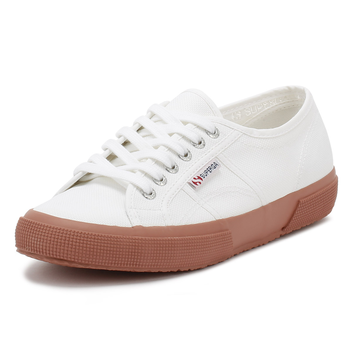23e4c3ab1067 Details about Superga Womens Trainers White   Rose 2750 Cotu Lace Up Sport  Casual Shoes