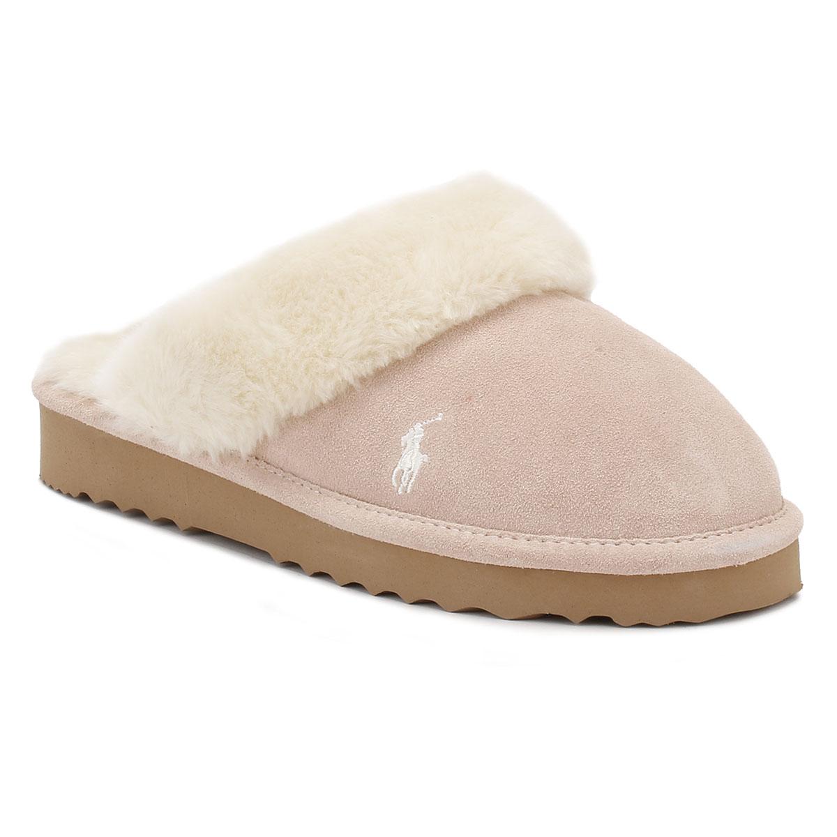 Ralph Lauren Womens Slippers Snuff Light Pink Cream Charlotte  # Muebles Ralph Lauren Espana