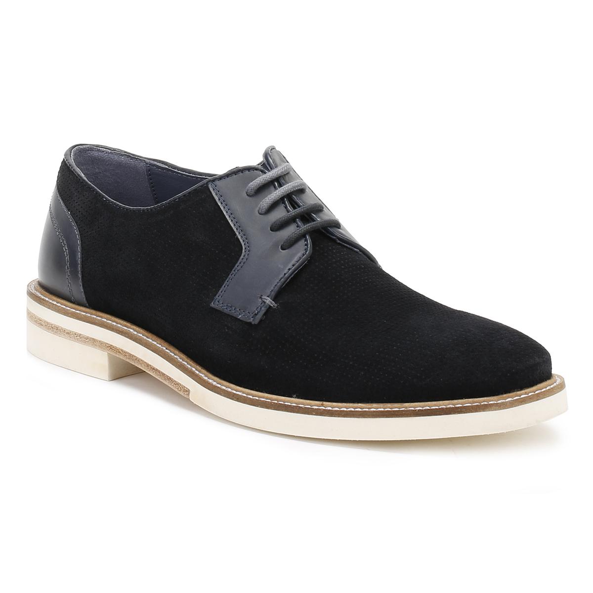 Ted Baker   Blau Herren Dark Blau  Siablo Derby Schuhes, Perforated Suede, Contrast Sole db4588