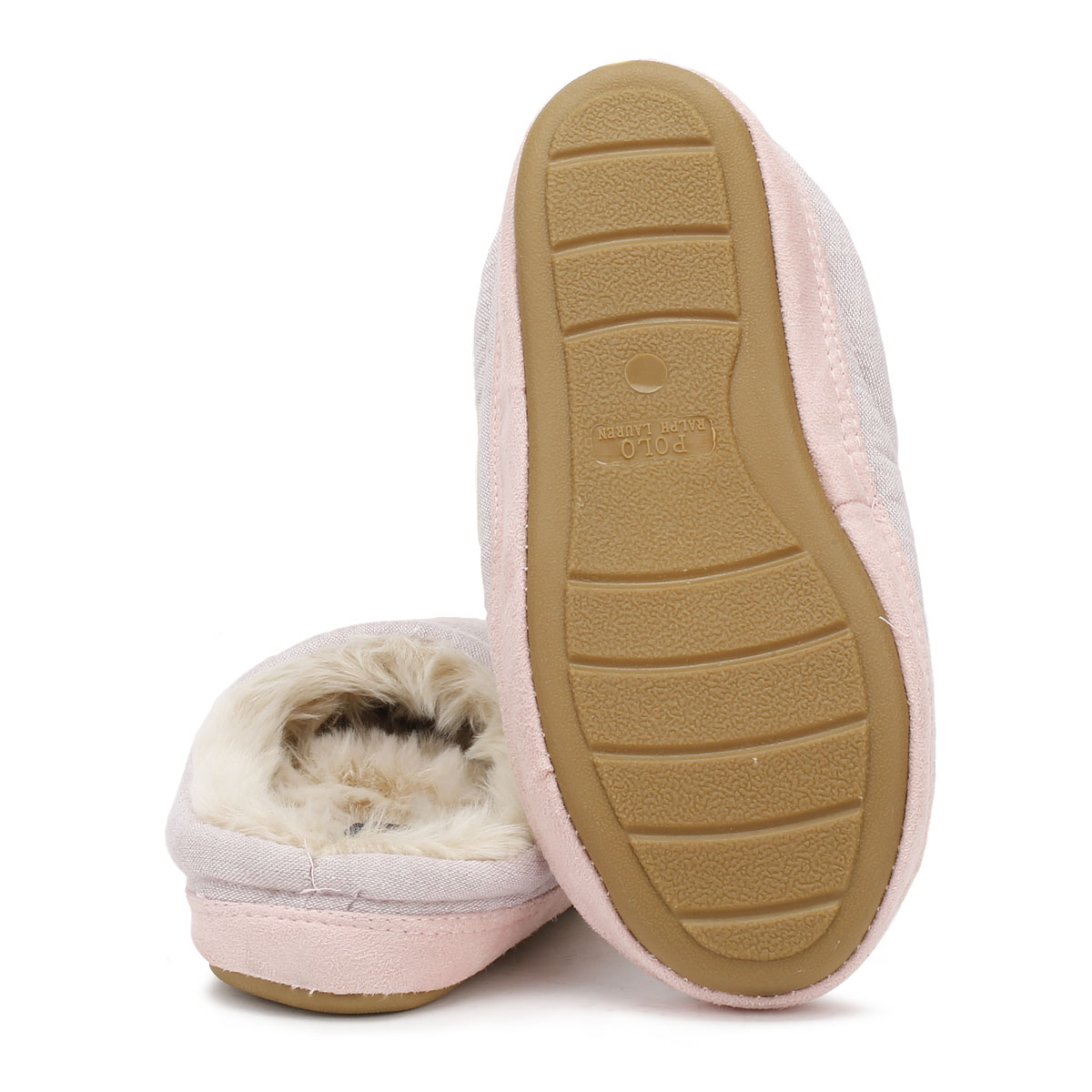 8b9a6ee7f58 Ralph Lauren Womens Slippers Pink Polar Cream Jacque Mules Ladies Home Shoes