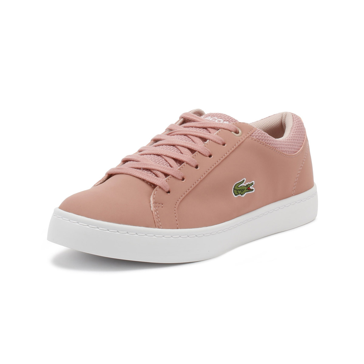 f6021f2eb Details about Lacoste Junior Pink Straightset 318 1 Trainers Kids Sport  Casual Shoes