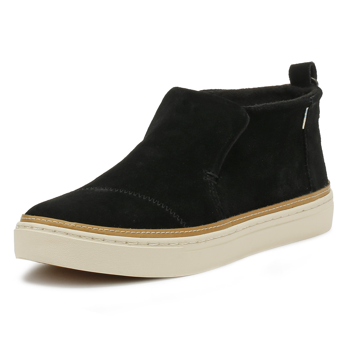 3f0fa6e0e3c Details about TOMS Womens Black Suede Paxton Shoes Ladies Slip On Casual Ankle  Boots