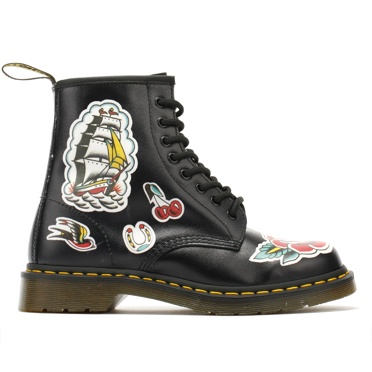 6b3cfcfdf5 Goodyear-welted  Dr. Martens air-cushioned sole  Backhand is a full-grain  and fully finished comfort leather