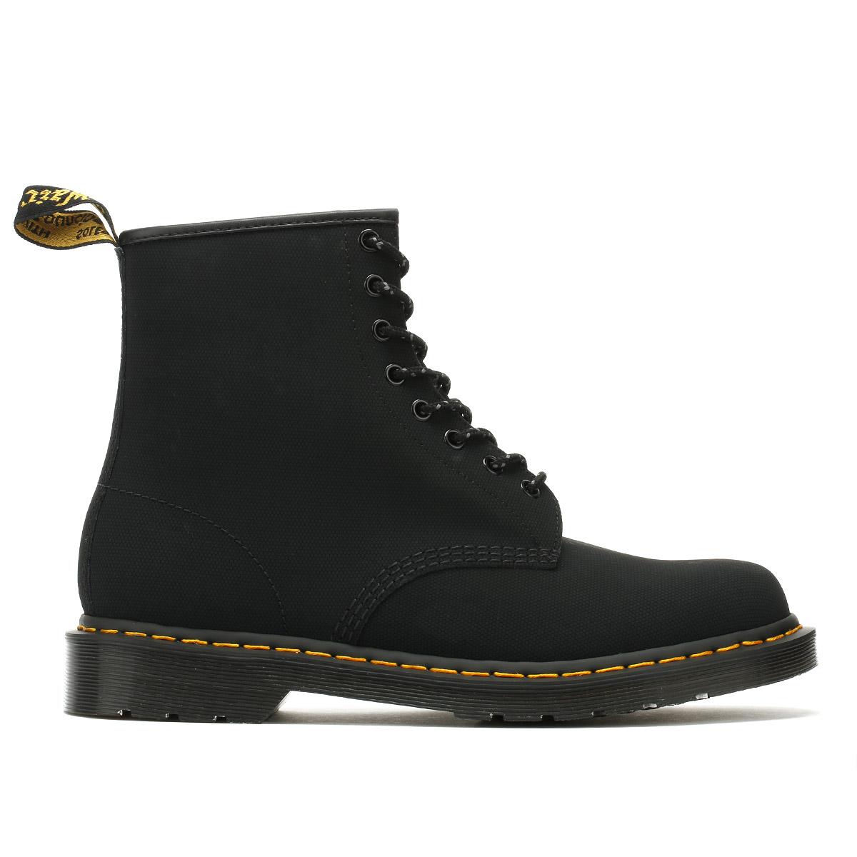 DR. Martens Da Uomo Uomo Uomo Stivali Neri Broder 1460 stringati in pelle scarpe alla caviglia 4d48d6