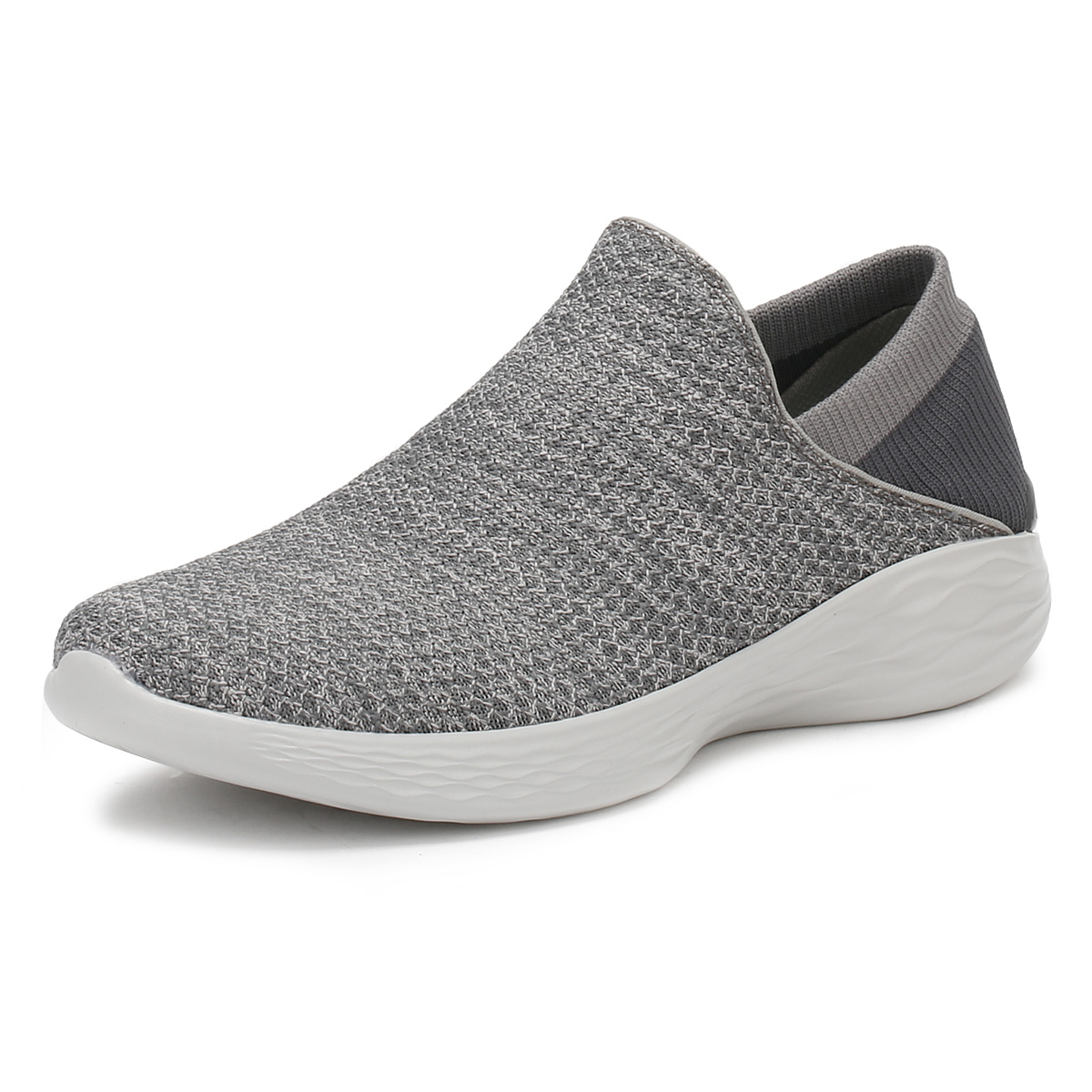 Skechers Womens Charcoal Grey You Trainers Slip On Sport Running