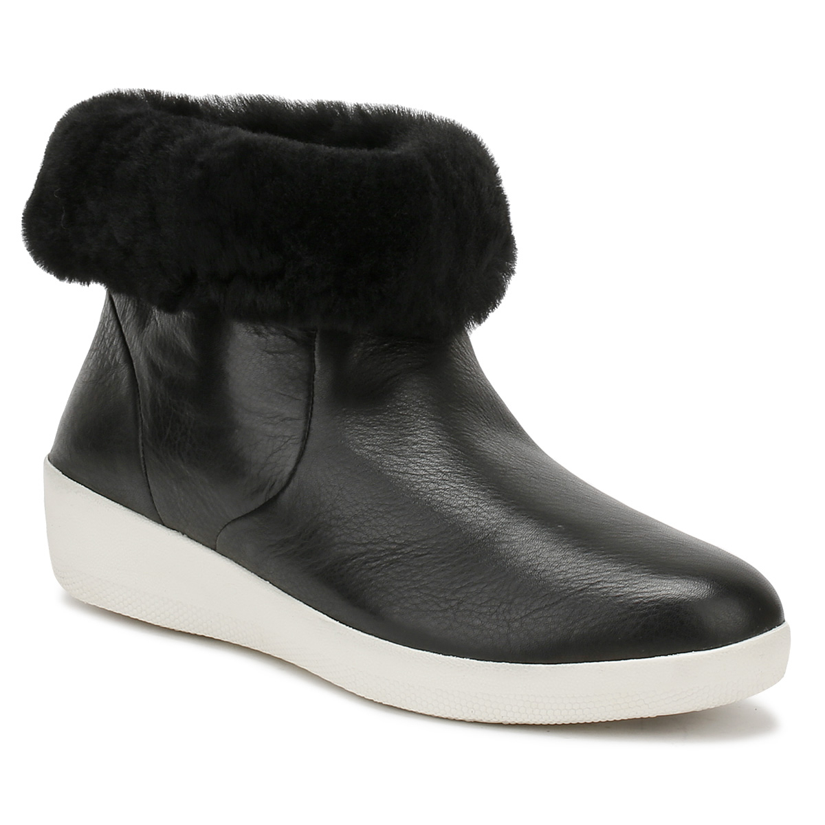 2a47eea5d220 FitFlop Skatebootie - Black Leather Womens BOOTS 3 UK