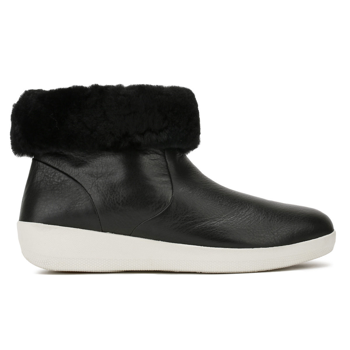 71891290efdb FitFlop Skatebootie - Black Leather Womens BOOTS 4 UK