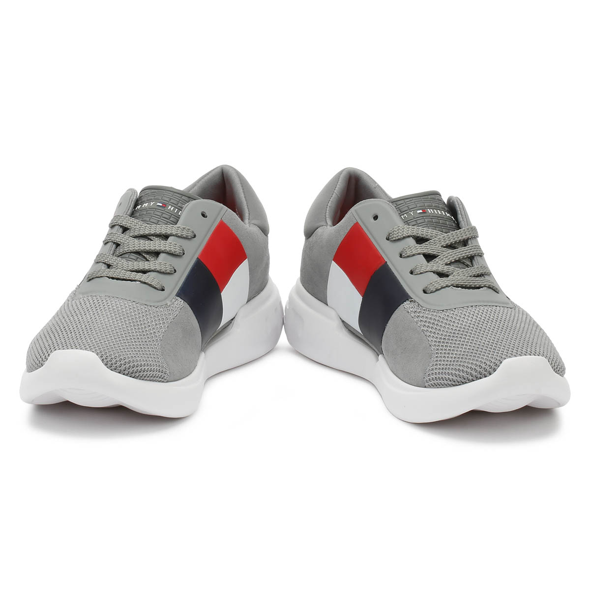 38b7b186a Tommy Hilfiger Mens Trainers Grey Lighweight Sport Casual Running Shoes