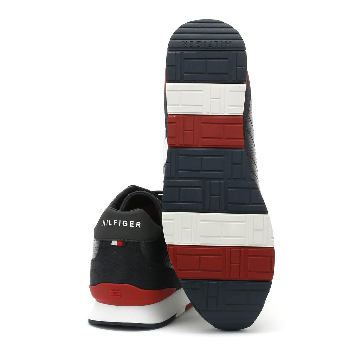 Tommy Hilfiger Scarpe Sneaker Uomo Midnight Lacci Sport Corporate Scarpe Hilfiger Casual 933407
