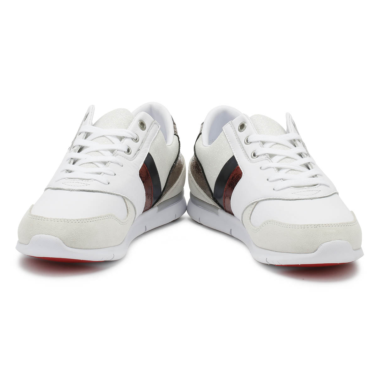 Tommy Hilfiger Damenschuhe Trainers Up Weiß Leder Light Lace Up Trainers Sport Casual Schuhes 308e2c