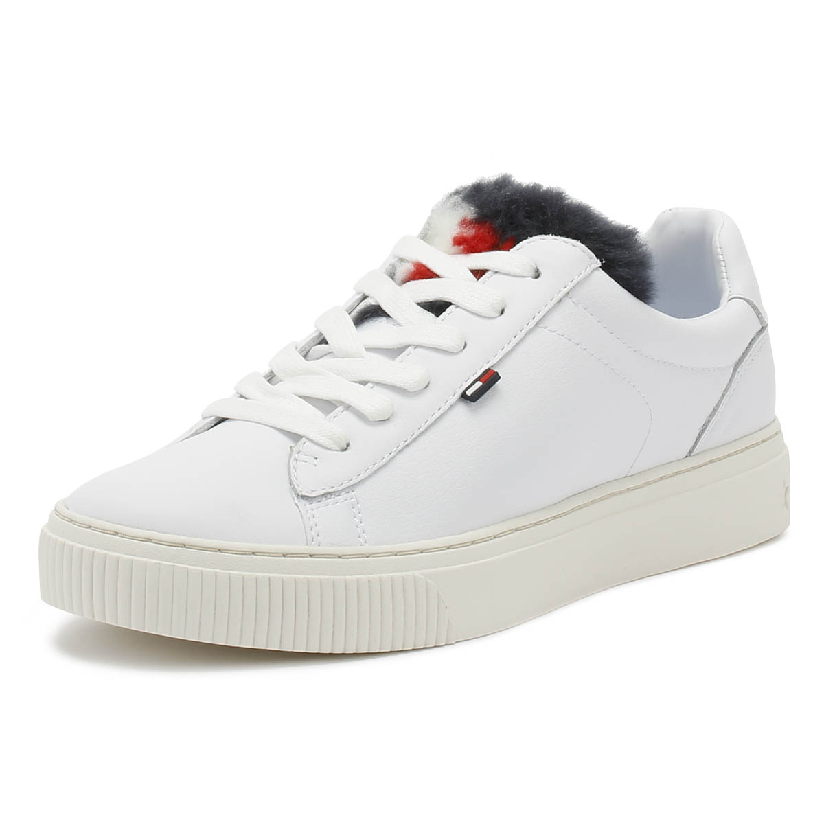 c6488a2c43d70 Tommy Hilfiger Womens Trainers White Funny Fur Star Sport Casual Shoes