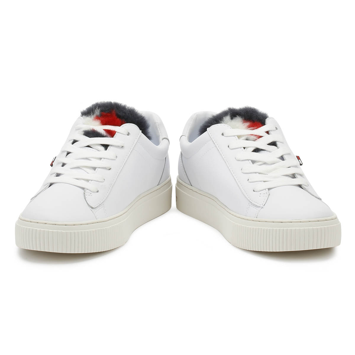 Tommy Hilfiger Damenschuhe Trainers Weiß Casual Funny Fur Star Sport Casual Weiß Schuhes e95010