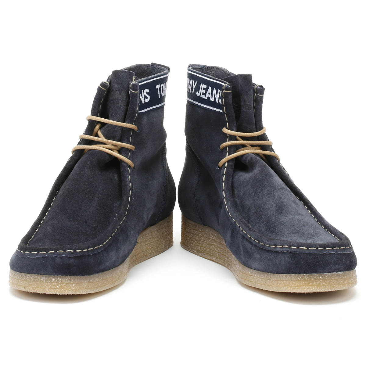 e605a494e25d8e Tommy Hilfiger Jeans Crepe Outsole Wallaby Mens Navy Boots Suede Shoes