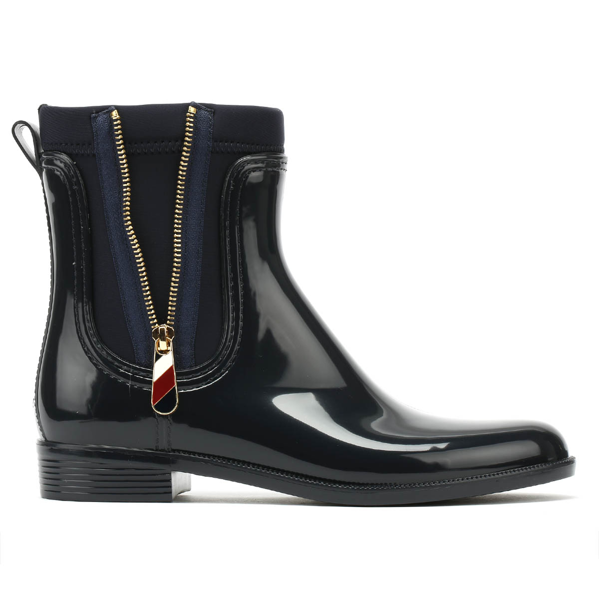 Tommy Hilfiger Womens Rain Boots Midnight Navy Material Mix Casual Ankle  Shoes eddaa8a442