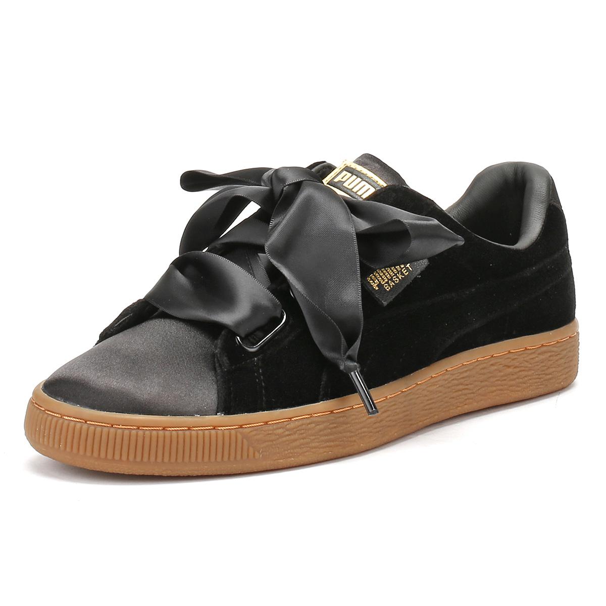 Puma Zapatillas Para Mujer Negro Goma cesta Terciopelo Corazón Sport Casual Zapatos señoras de la cesta Goma bf4038