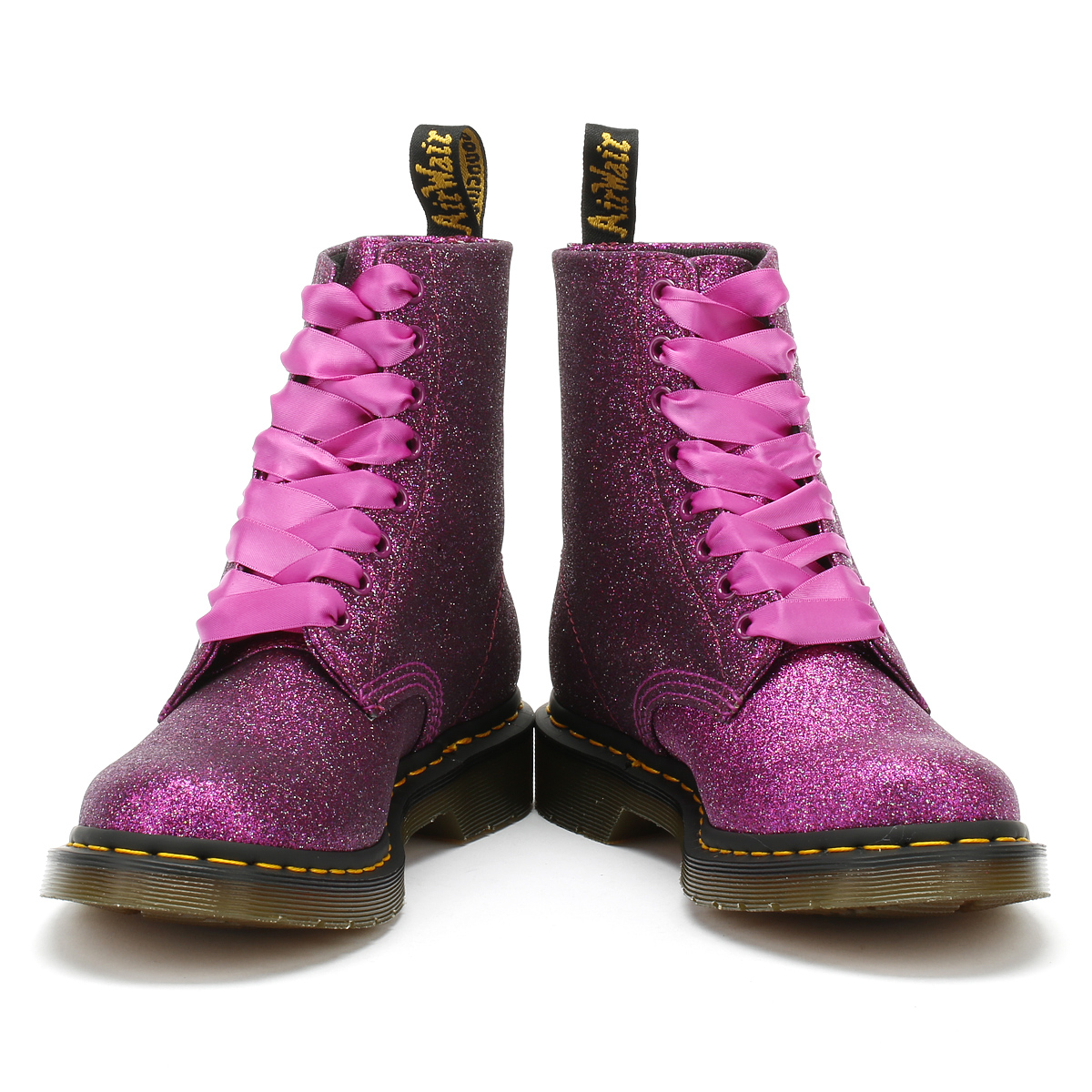 3335054d22 Dr. Martens Womens Pascal Boots Purple Glitter 1460 Lace Up Casual Winter  Shoes