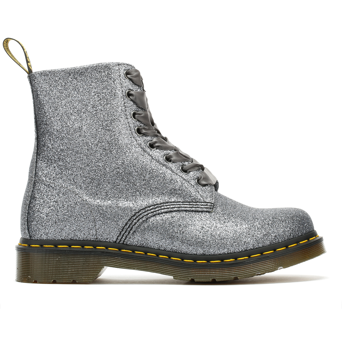 eb304df527 Dr. Martens Womens Pascal Boots Grey Glitter 1460 Lace Up Casual Winter  Shoes