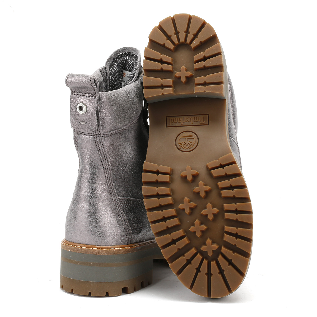 Metallic Leather Boots : Timberland womens silver courmayeur valley boots metallic