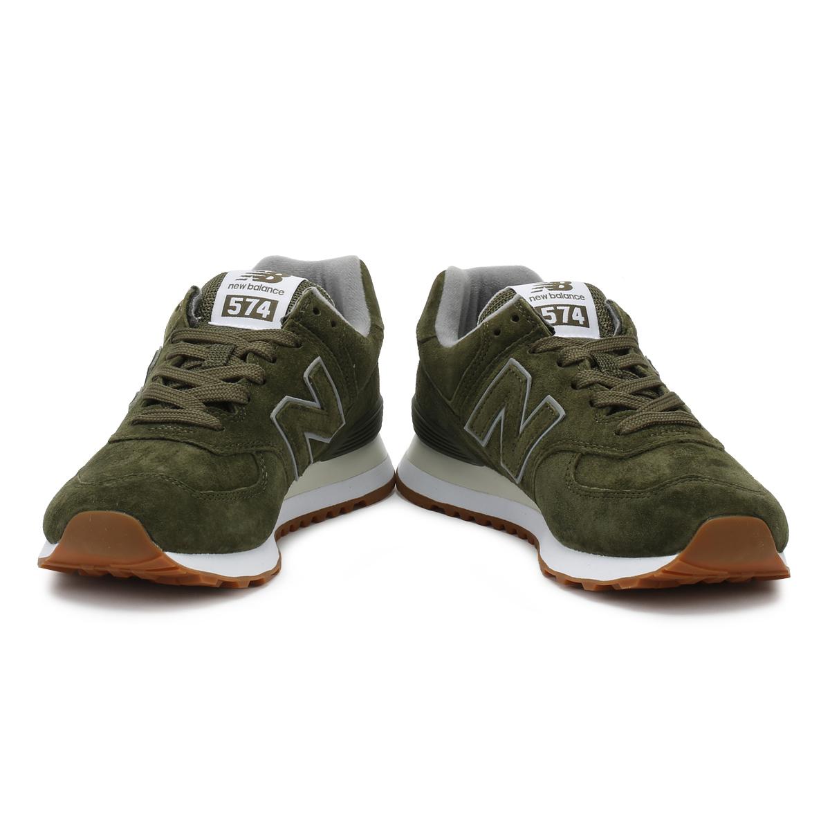 cbcbae5e87c New Balance Mens Trainers Dark Covert Green 574 Classic Sport Casual Shoes