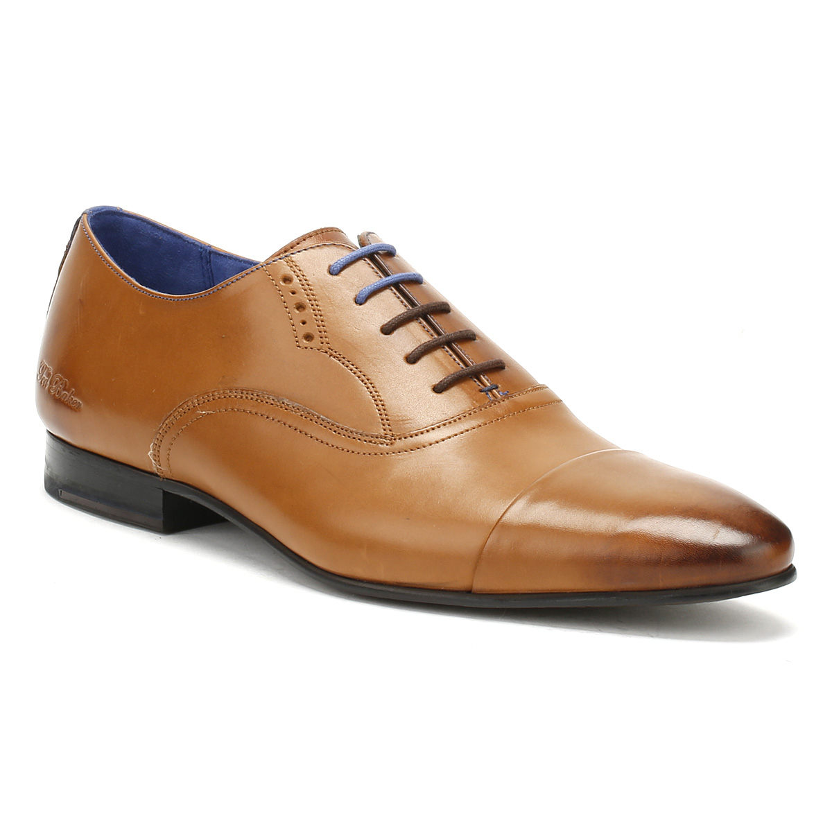 Ted Brown Baker Mens Murain Formal Shoes Tan Brown Ted Leather Lace Up Smarts b6553e
