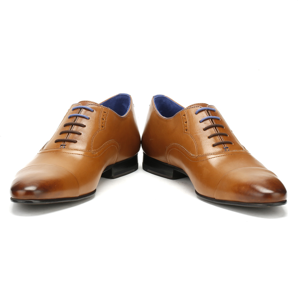 d19b4197a1ba66 Ted Baker Mens Murain Formal Shoes Tan Brown Leather Lace Up Smarts ...