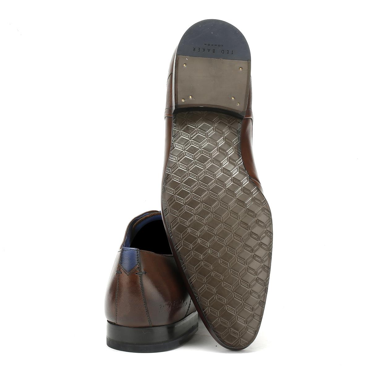 Ted Baker Mens Peair Formal Schuhes Dark Braun Leder Lace Up Smarts