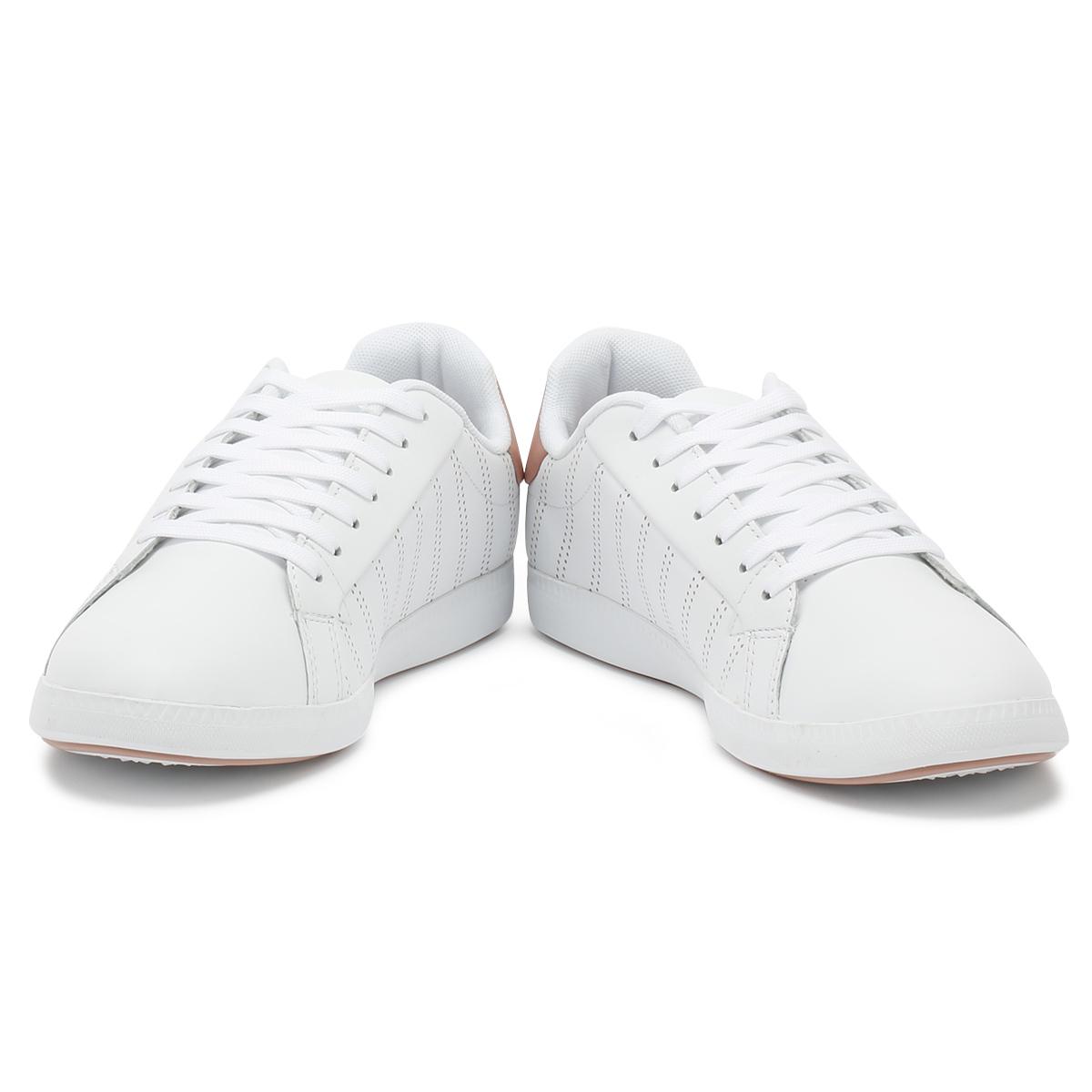 Lacoste Damenschuhe Trainers Weiß   Weiß Pink Graduate 318 1 Lace Up Sport Casual Schuhes 5e5fe2