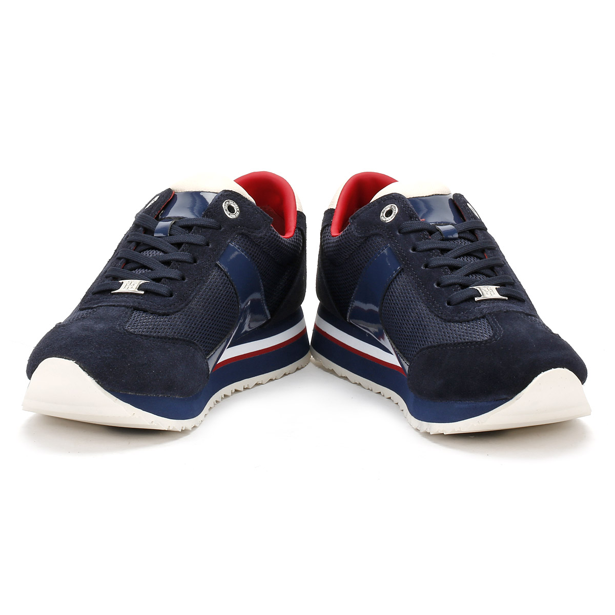 Tommy Hilfiger damen Trainers, Navy Blau, 1C1 Runner, Runner, Runner, Leather, Sport schuhe    Sale Online  72173a