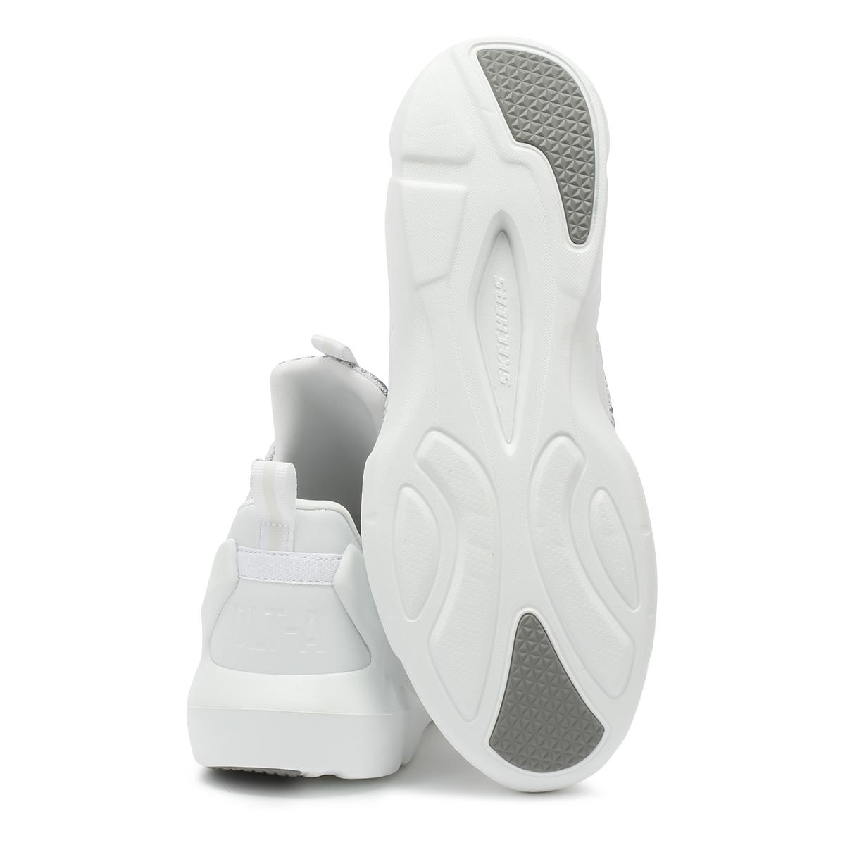 Skechers Hombre Entrenadores Blanco - Gris d'lites - Blanco un cuero zapatos deportivos informales de Malla & 5f44d0