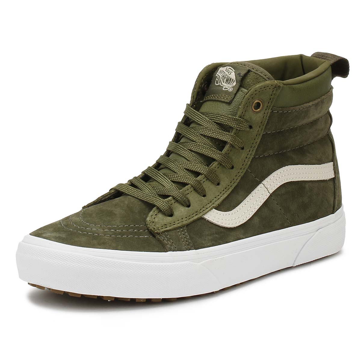 2beae432bc2f37 Details about Vans Mens Trainers Winter Moss Military Green SK8-Hi MTE  Casual Skate Shoes
