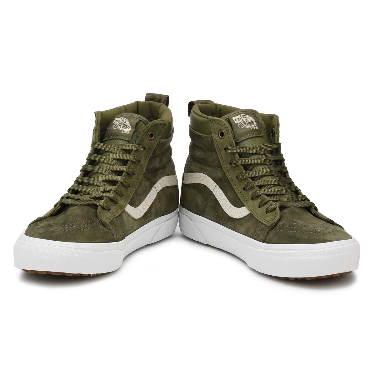 3c2893d72 Vans Mens Trainers Winter Moss Military Green SK8-Hi MTE Casual Skate Shoes