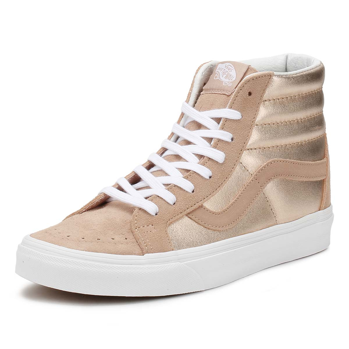 9a7e279c7f Details about Vans Womens Trainers Mahogany Rose   True White SK8-Hi  Reissue Skate Shoes